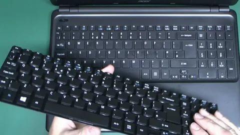 تعویض صفحه کلید لپ تاپ